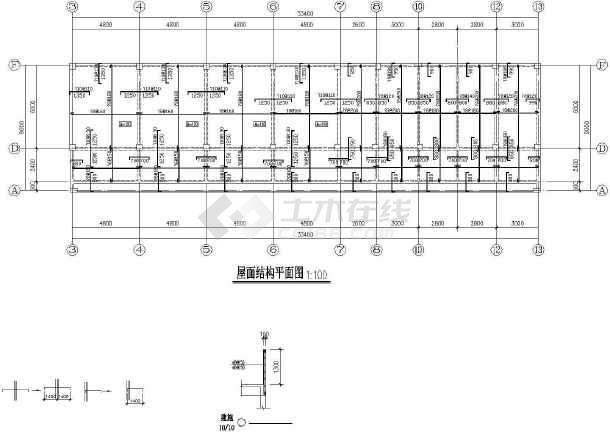 某地框架幼儿园建筑结构CAD图纸-图3