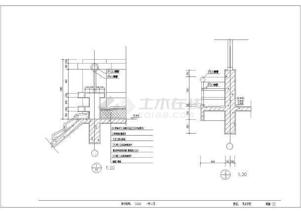 某5层私宅建筑施工设计CAD图-图3