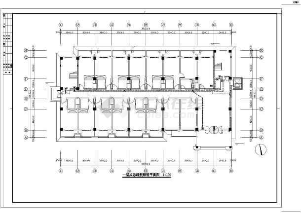 [江苏]办公综合楼电气施工图(含详细安装做法及消火栓按钮启泵线路系统图)-图1