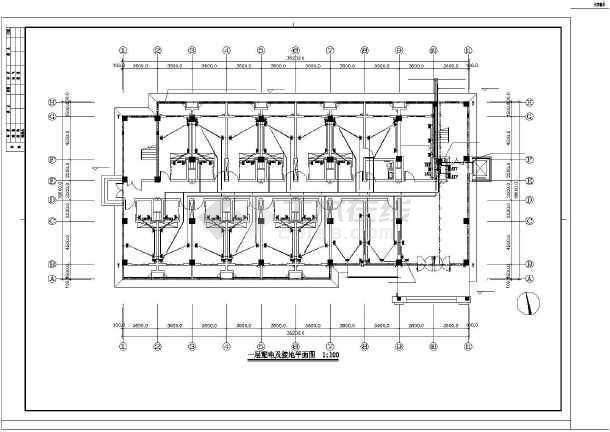 [江苏]办公综合楼电气施工图(含详细安装做法及消火栓按钮启泵线路系统图)-图2
