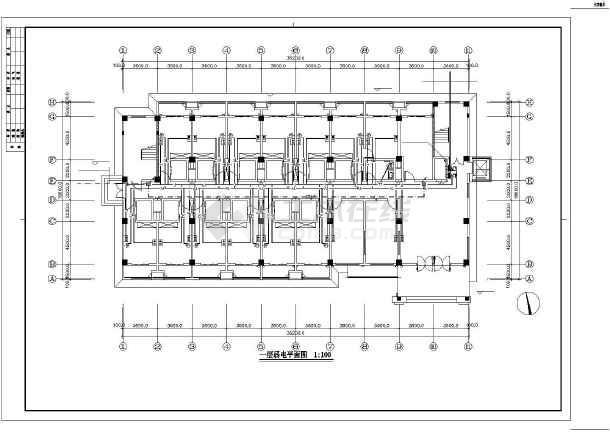 [江苏]办公综合楼电气施工图(含详细安装做法及消火栓按钮启泵线路系统图)-图3