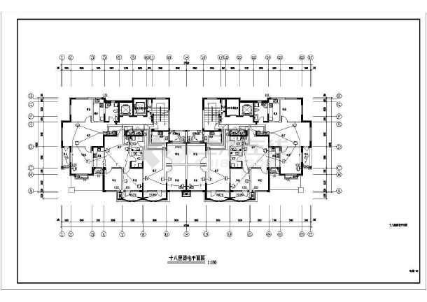 18层住宅楼电气全套施工图-图1