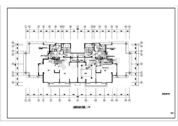18层住宅楼电气全套施工图-图2