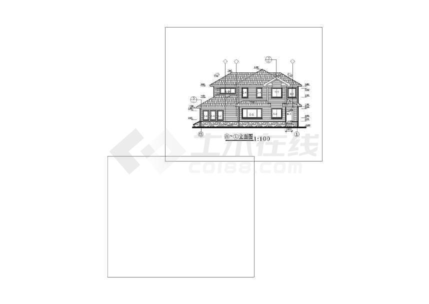 简单常用的别墅建筑设计图-图2