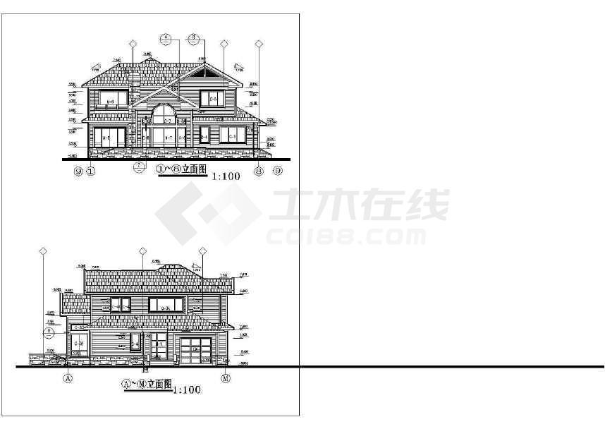 简单常用的别墅建筑设计图-图3