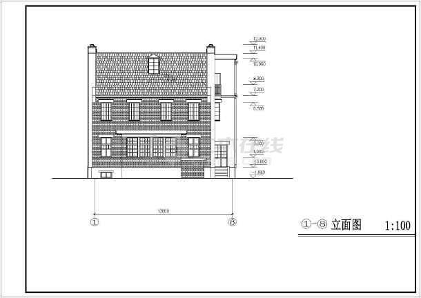 某地小住宅建筑设计方案图纸-图1
