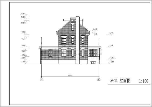 某地小住宅建筑设计方案图纸-图2