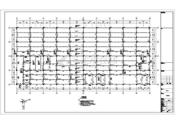 大连某二层厂房结构设计图-图2