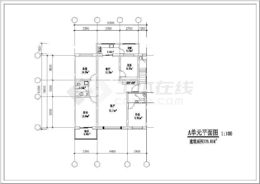 简单的一套北方住宅户型方案cad图(共16张)-图2