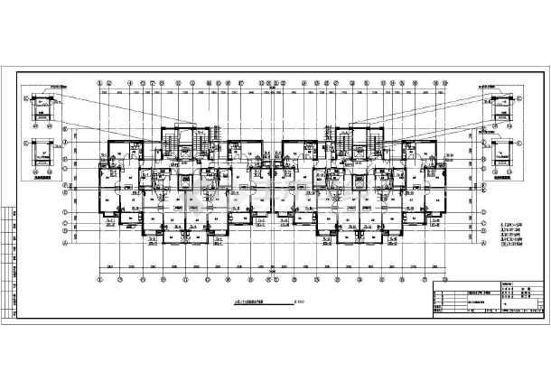 安徽高层住宅小区建筑给排水平面图-图2