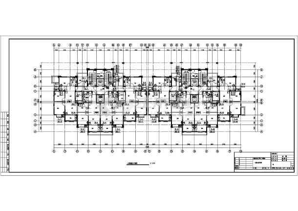 安徽高层住宅小区建筑给排水平面图-图3