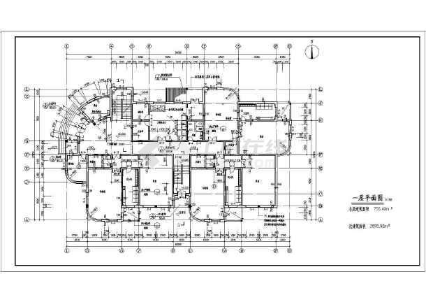 某地幼儿园建筑施工图(共12张)-图3