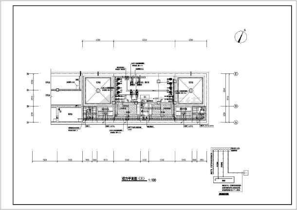 某水处理厂电气施工图最新(含电机控制原理图)-图1