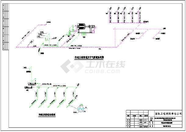 化工厂终端污水处理施工图纸-图3