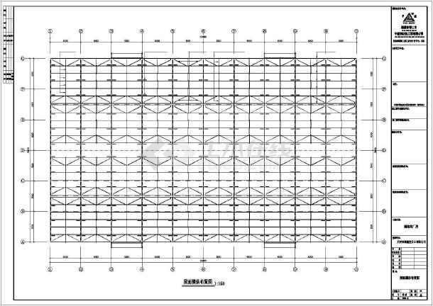 某公司钢筑厂房建筑结构CAD图纸-图3