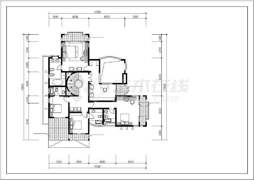 最新整理的小别墅建筑设计图-图1