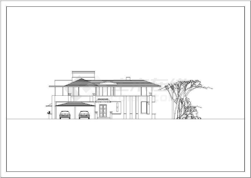 最新整理的小别墅建筑设计图-图3