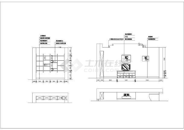 某别墅室内精美装修建筑施工CAD图纸-图2