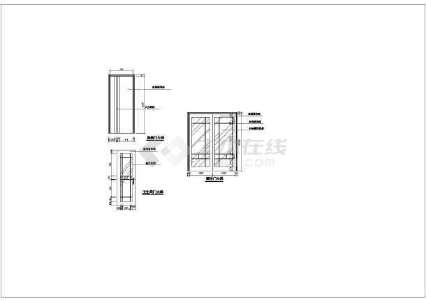 某别墅室内精美装修建筑施工CAD图纸-图3