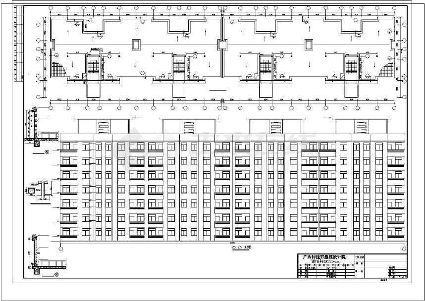 简单的住宅楼建筑设计方案图-图1