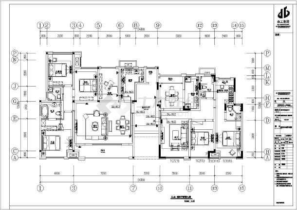 [重庆]洋房样板间装饰工程水电全套施工图-图1