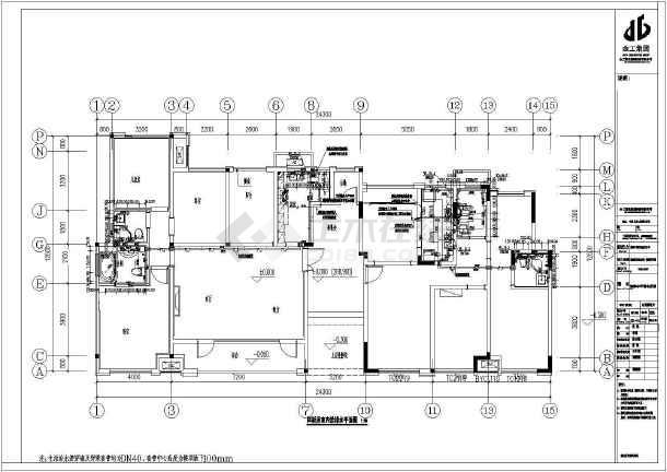 [重庆]洋房样板间装饰工程水电全套施工图-图3