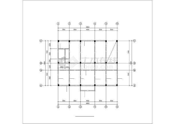 某五层框架卫生院结构设计图-图1