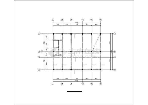 某五层框架卫生院结构设计图-图2