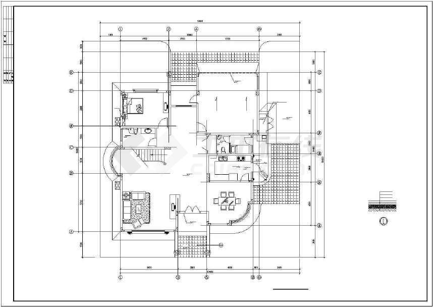 比较经典别墅建筑设计图(全套)-图1