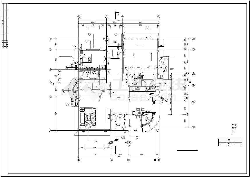 比较经典别墅建筑设计图(全套)-图2