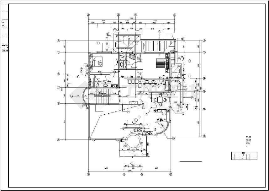 比较经典别墅建筑设计图(全套)-图3