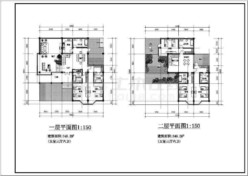 某地别墅式接待中心建筑设计图-图2