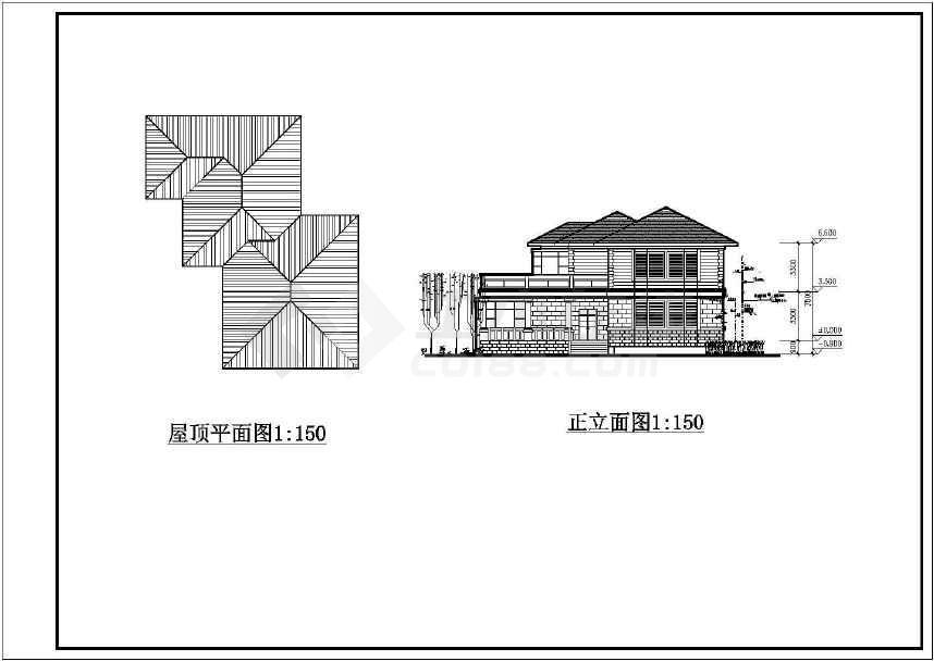 某地别墅式接待中心建筑设计图-图3