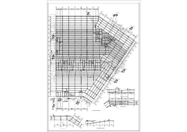 某小型框架地下车库结构设计图-图1