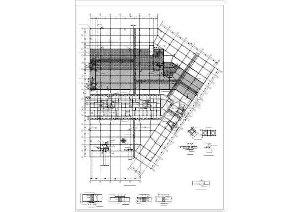 某小型框架地下车库结构设计图-图2