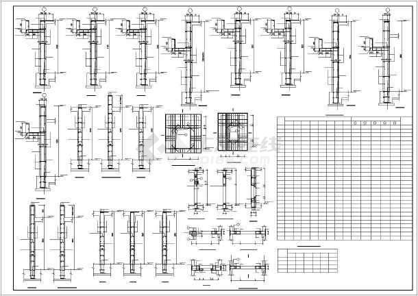 某小型框架地下车库结构设计图-图3