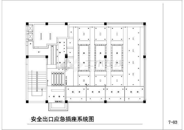 高档咖啡厅电气设计施工图-图1