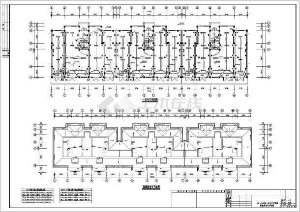 某地区多层住宅电气cad设计图-图1