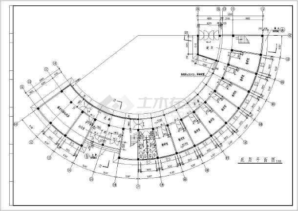 某地成大教学楼建筑图(共6张)-图2