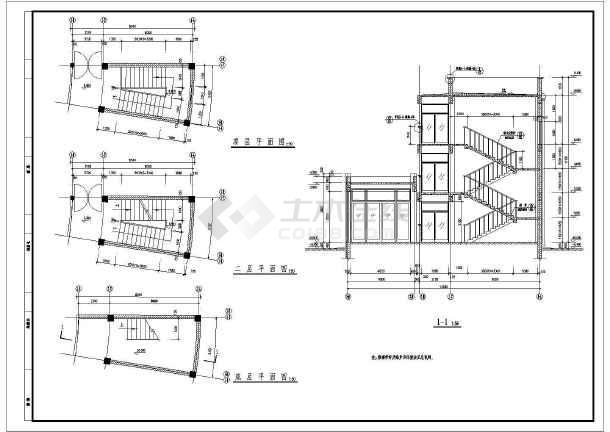 某地成大教学楼建筑图(共6张)-图3