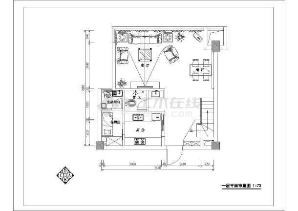 欧式别墅装修设计图(含效果图)-图3