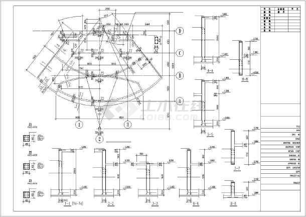 某别墅入口主水景全套施工图-图1