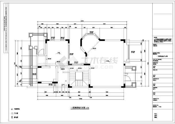 某欧式多层别墅装修设计图-图1