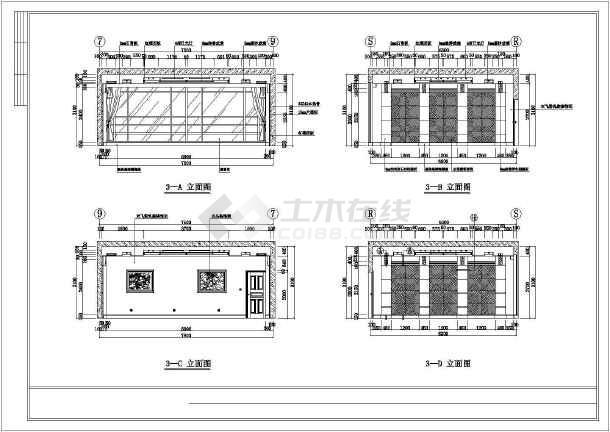 某大型会议室排练厅及贵宾接待室装饰施工图纸-图3