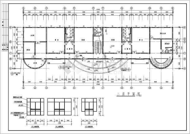 某地幼儿园建筑施工图(共7张)-图1