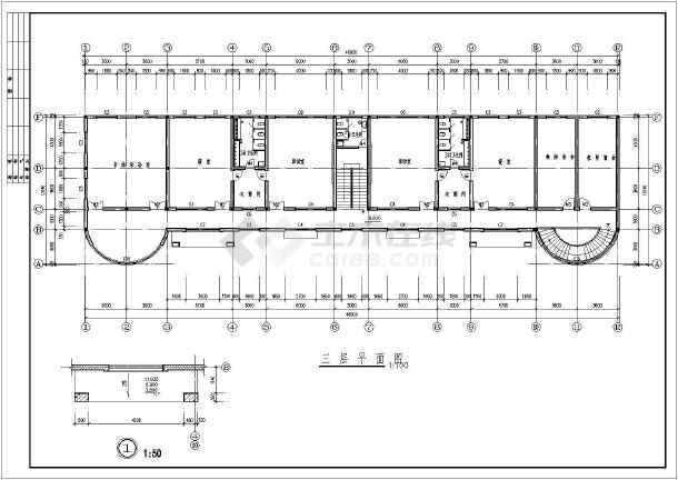 某地幼儿园建筑施工图(共7张)-图2