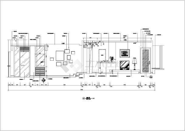 某经典的住宅施工设计CAD图-图3