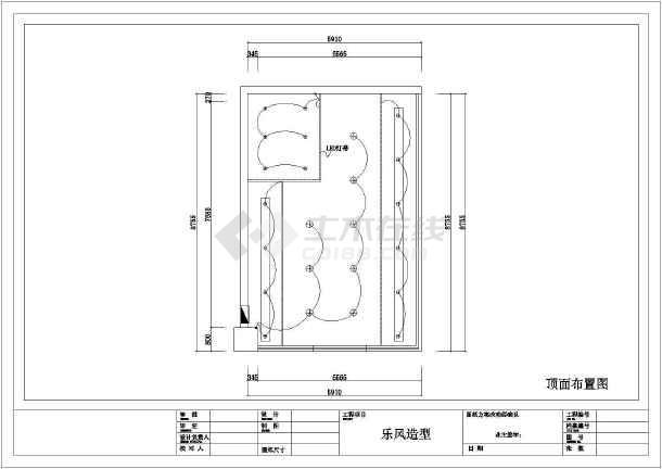乐风理发店全套装修设计施工图-图3