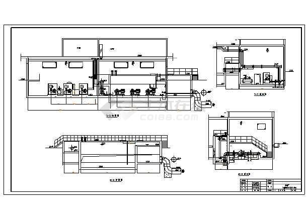 净水厂V型滤池构筑物的工艺施工图-图1