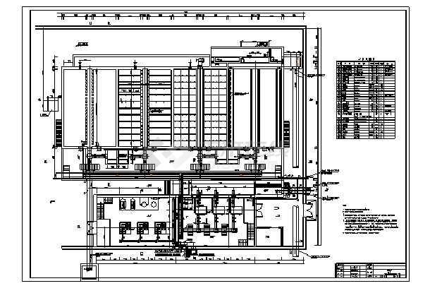 净水厂V型滤池构筑物的工艺施工图-图3